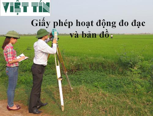 Xin giấy phép hoạt động đo đạc và bản đồ