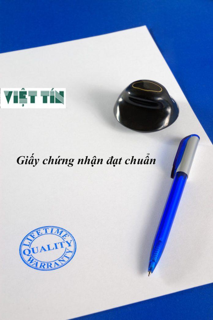 giấy chứng nhận đạt chuẩn được thực hiện tại Luật Việt Tín