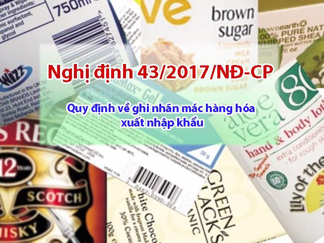 Nghị định 43/2017/NĐ-CP quy định về nhãn phụ sản phẩm