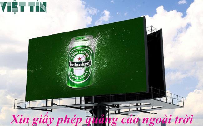 Xin giấy phép quảng cáo ngoài trời đơn giản cùng Luật Việt Tín