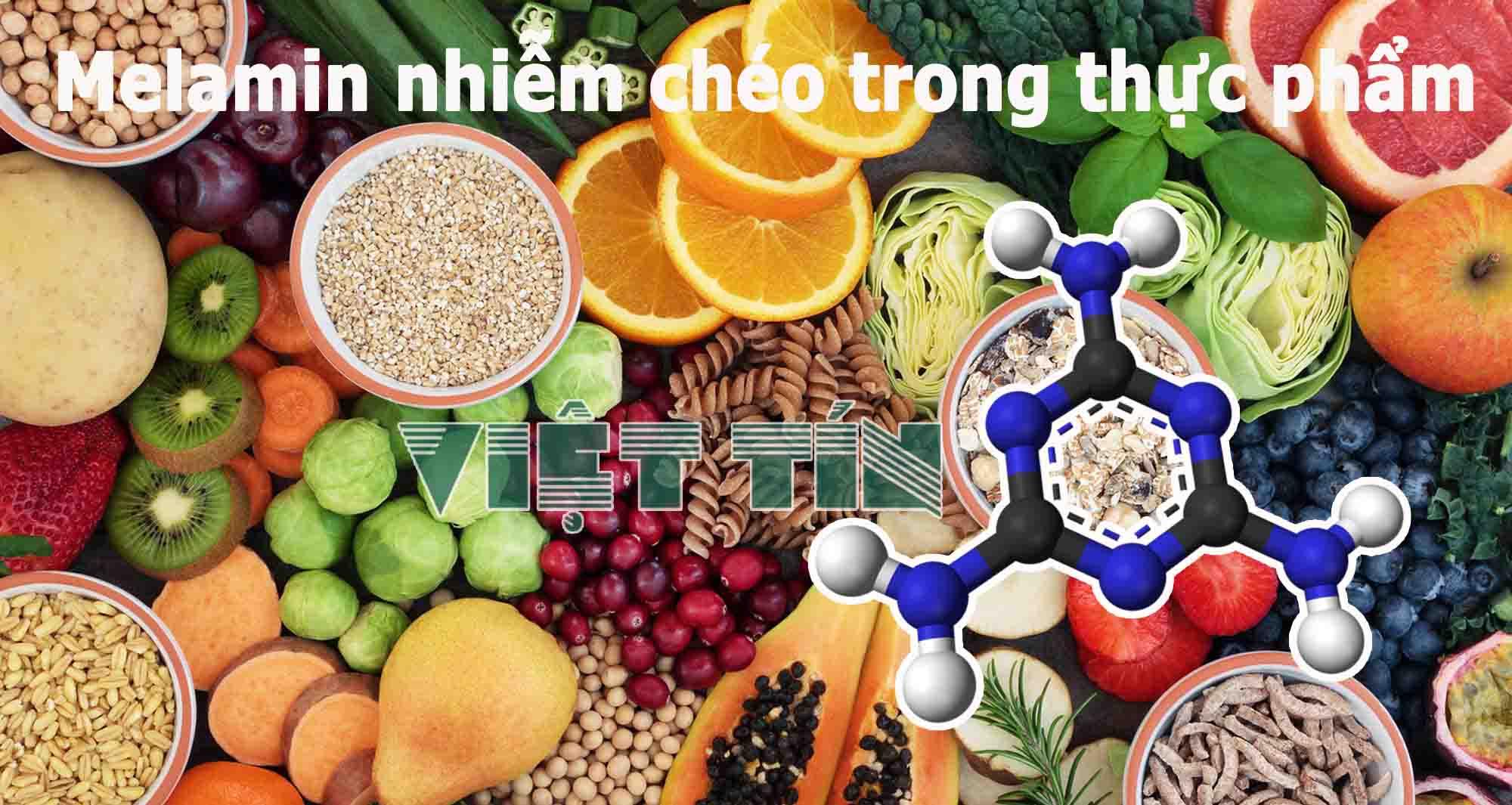 melamine nhiễm chéo trong thực phẩm