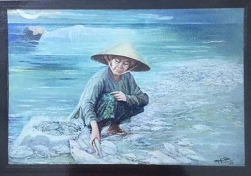 """Họa sĩ Nguyễn Nhân thừa nhận vi phạm bản quyền với tranh """"Biển chết"""""""