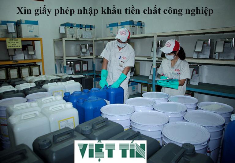 Xin giấy phép nhập khẩu tiền chất công nghiệp đơn giản cùng Luật Việt Tín