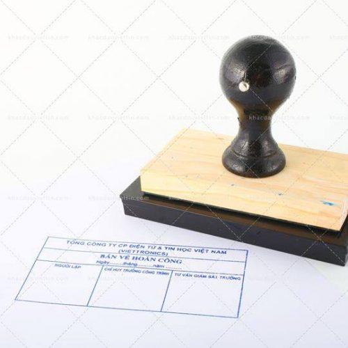 Bảng báo giá khắc dấu hoàn công bản gỗ
