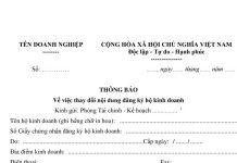 Thay đổi nội dung dung đăng ký kinh doanh hộ kinh doanh