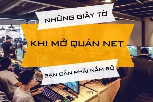 Cần nắm vững các giấy tờ khi mở quán NET