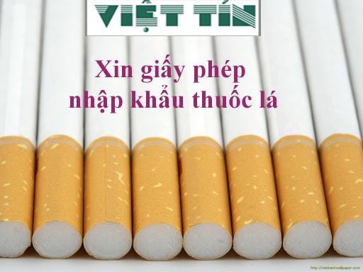 Xin giấy phép nhập khẩu thuốc lá dễ dàng cùng Luật Việt Tín