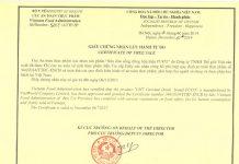 Giấy chứng nhận lưu hành tự do thực phẩm (CFS)